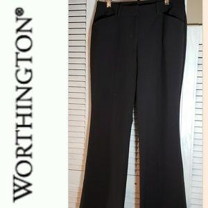 WORTHINGTON Black Dress Pants Size 4